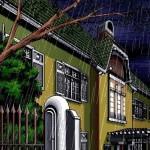 денди арт пиксель арт ночной дом