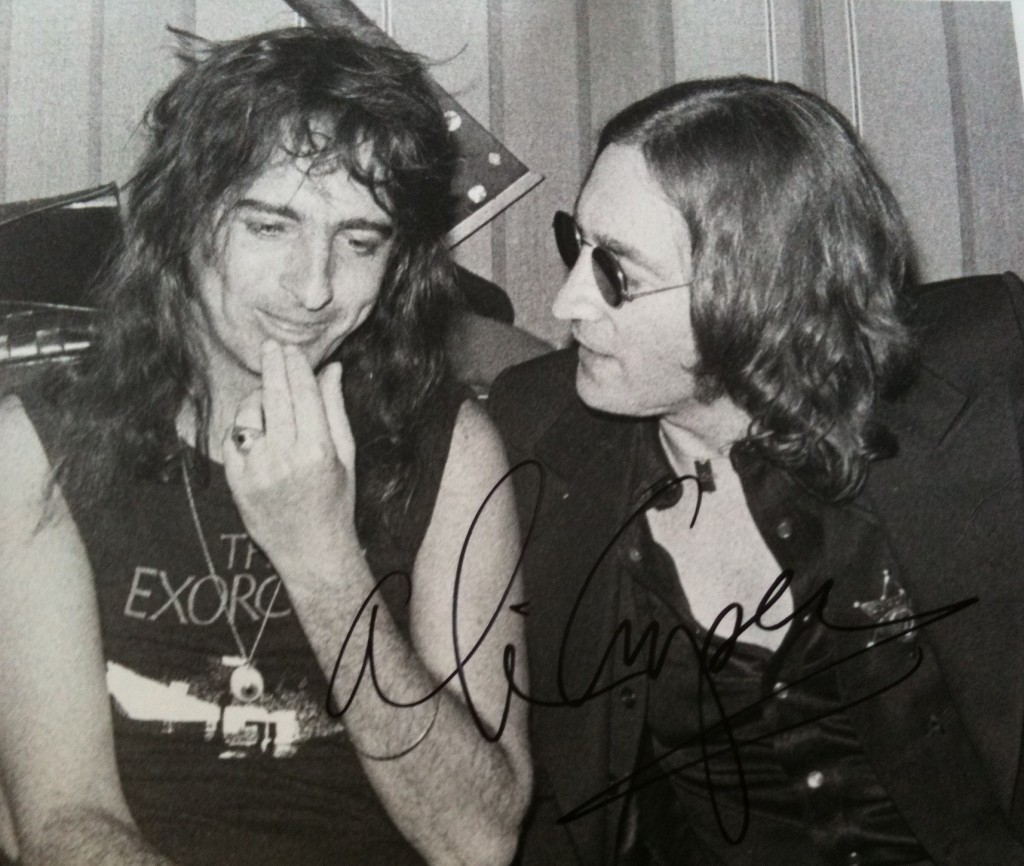 Alice cooper and John Lennon 1974