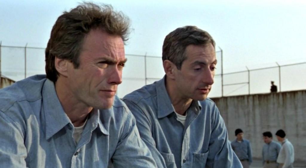 "Кадр из фильма ""Побег из Алькатраса"" (1979)."