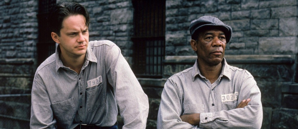 "Кадр из фильма ""Побег из Шоушенка"" (1994)."